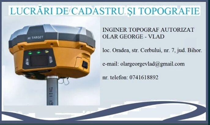 Prestari servicii topografie/cadastru