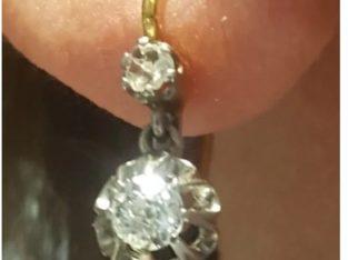 Cercei diamante aur 18 k