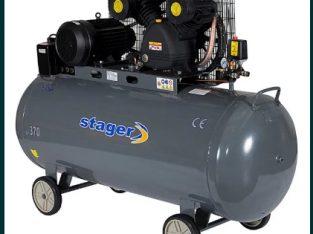 Compresor cu piston, antrenare prin curea , STAGER HM V 0.6/370