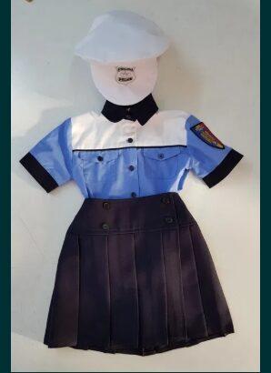 Costum polițist fete – nou, 3-8 ani