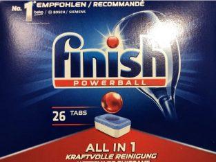Detergent vase FINISH All in One 26 tablete! Nou!!!
