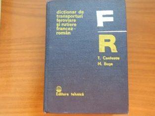 """Vand """"Dictionar de transporturi feroviare si rutiere Francez-Roman"""""""