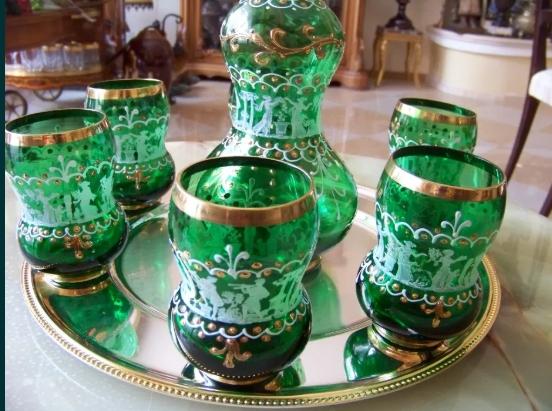 Set bauturi Sticla Murano venetian