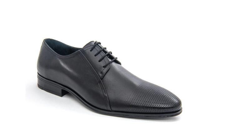 Pantofi barbati eleganti Leofex 743 piele naturala, negru – Leofex