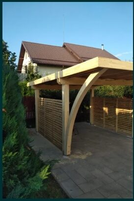Carport pergola garaj lemn pin nordic stratificat