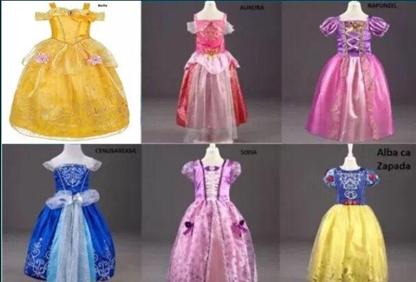 Rochita Alba ca Zapada Sofia Rapunzel, Aurora, Elsa, Belle Cenusareasa