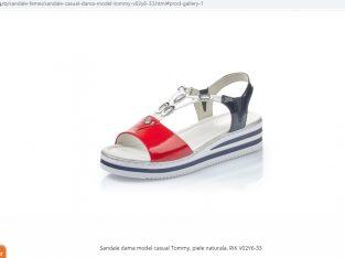 Sandale dama model casual Tommy, piele naturala, RIK V02Y6-33 – Rieker