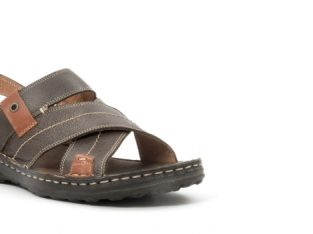 Sandale barbat din piele naturala ,culoare maro,Leofex 799 – Leofex