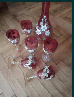 set pahare sticla