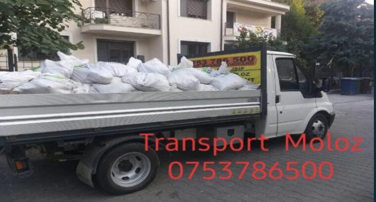Transport Moloz la sac sau vrac Debarasez apartamente ți s