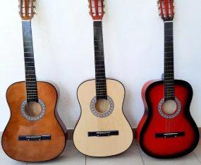 Chitara lemn pentru incepatori 3/4,husa transport chitara NOU