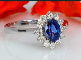 """Inel cadou """"My Princess"""" cu safir si diamante, pentru Ea"""