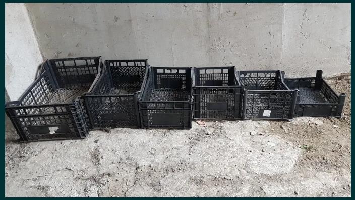 Ladite plastic, 1000 buc ,pvc,legume,fructe,industriale,uz casnic,lazi