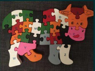 Puzzle din lemn – Vaca