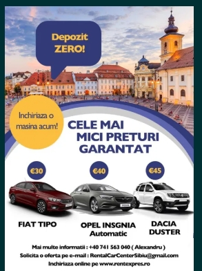 Inchirieri auto Cluj ; Rent a Car Cluj ; Inchiriez masina