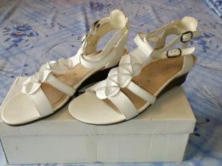 Sandale dama din piele naturala Remonte Dorndorf, albe