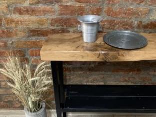 Masa din lemn si fier