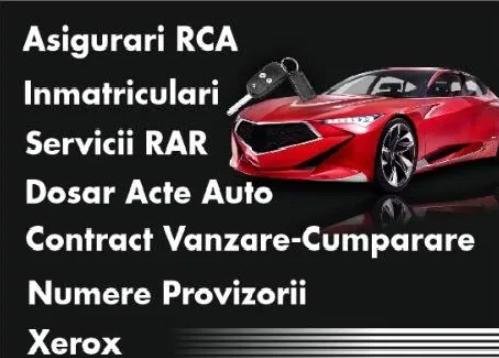 Contract Vanzare-Cumparare,Asigurari,Inmatriculari,RAR,Acte Auto