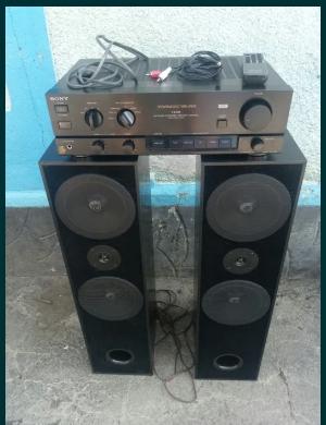 Set 2 boxe CAT 400W si amplificator SONY cu telecomandă