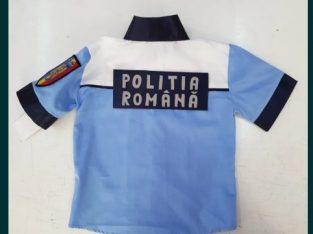 Costum politist copii cu sapca bicolora si scris reflectorizant