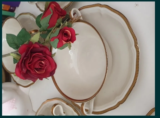 Set ptr supa /porțelan Rosenthal Chippendale Germany / schimb cu aur