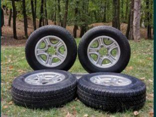 4 x Cauciucuri Bridgestone Dueler H/T M+S și Jante