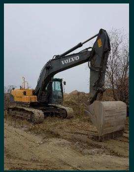 Inchiriem excavator pe senile Volvo EC210 CI