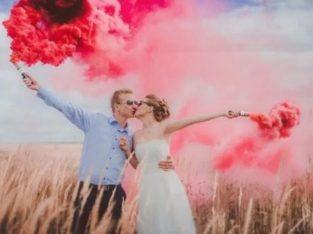 Fumigene colorate pentru sedinte foto, Artificii tort