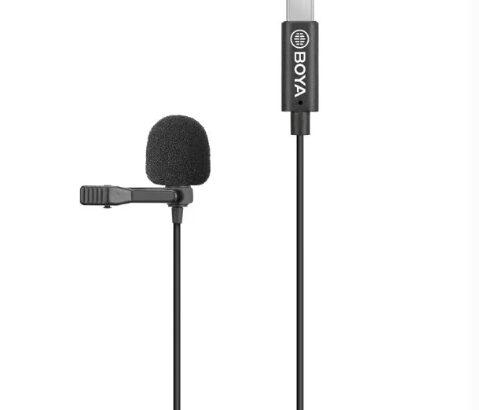 Microfon Lavaliera Omnidirectional Stereo, Boya BY-M3, USB C