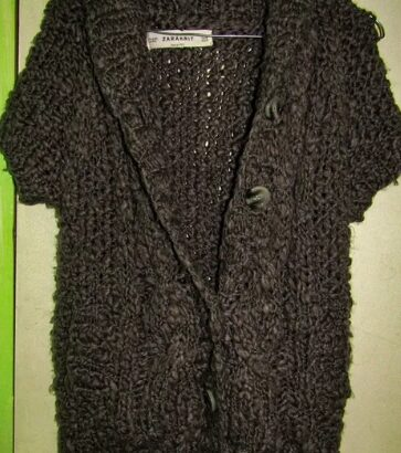 Pulover gros tricotaj