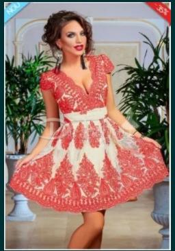 Vand rochie Iris roșie la prețul de 100 de lei.