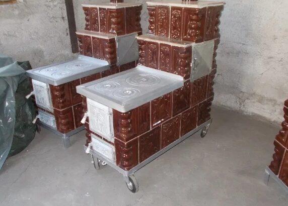 Soba de teracota cu plita si cuptor pentru bucatarie