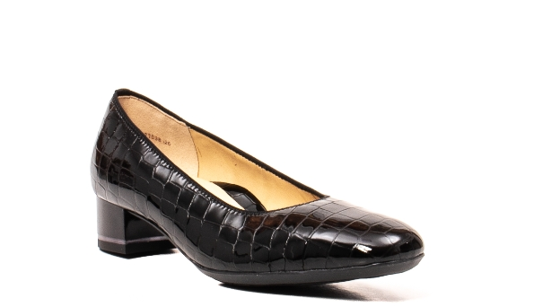 Pantofi eleganti dama, piele naturala lacuita croco, AR11838 26H – Ara