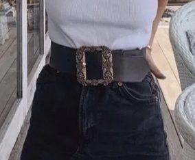 Fusta de blugi talie inalta Zara marime 34/xs