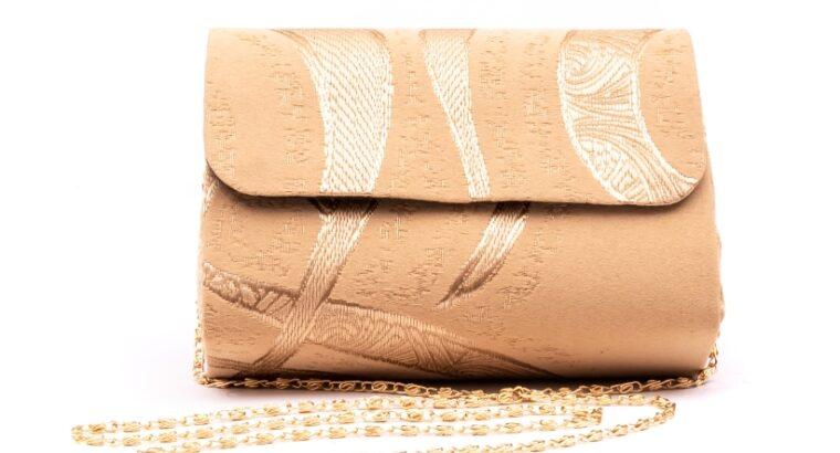 Plic butoias 002 textil bej auriu – Real Leather