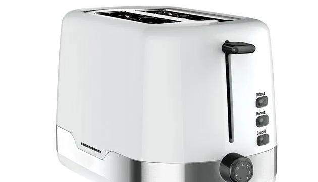 Prajitor de paine Heinner HTP-850WHSS, 850 W, 7 nivele de rumenire, 3