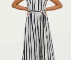 Rochie tip pantalon/Salopeta H&M cu umeri goi, XS-S