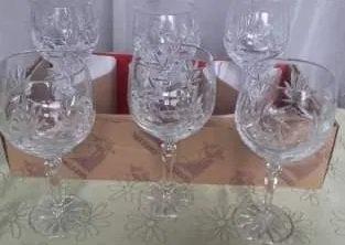 Set pahare de cristal