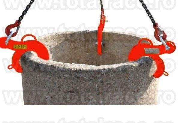 Clesti pentru manevrarea verticala a tuburilor de beton