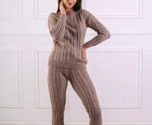 Compleu sport doua piese din tricot pentru femei