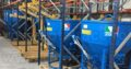 Bene pentru turnat beton cu furtun de cauciuc