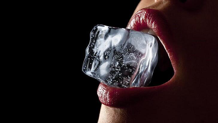 lips-women-ice-cubes-wallpaper-preview