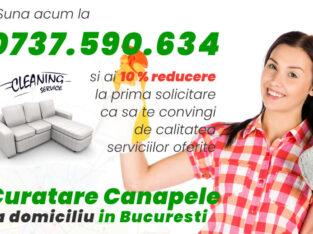 Curatare canapele Bucuresti. Curatare profesionala la domiciliu. Preturi imbatabile! Profita!