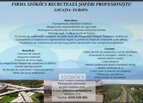 Firma SZÖKÖCS recruteaza soferi profesionisti intern si extern