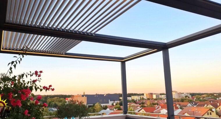 Pergole de aluminiu cu acoperiș retractabil. Sun Leader România