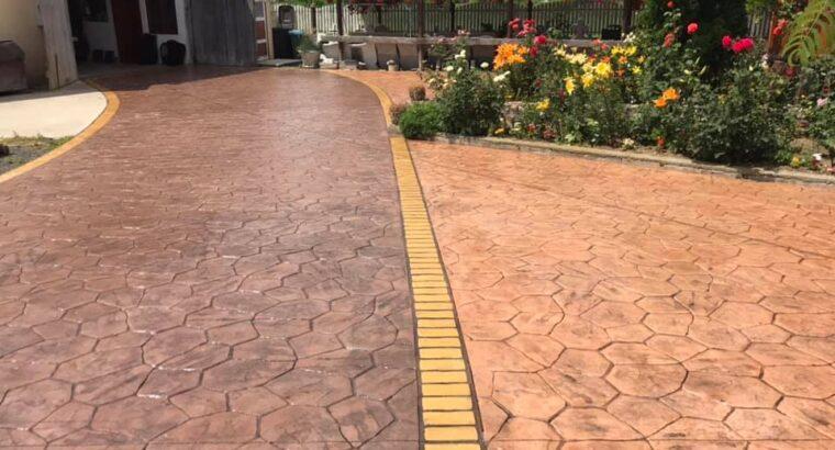 Beton amprentat Olt Preturi beton amprentat judetul Olt Pavaje beton amprentat Slatina m2