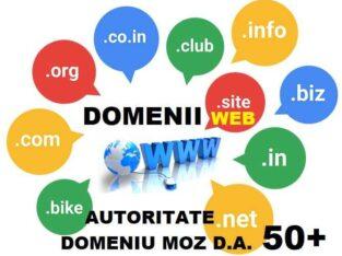 Vindem domenii web optimizate seo cu autoritate mare peste 50 Moz D.A.