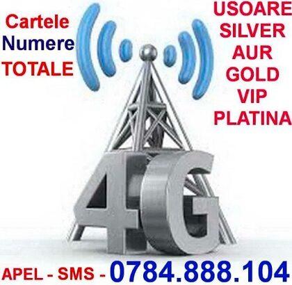 Cartele SIM cu număr simplu și ușor de reținut de tip gold sau platinum