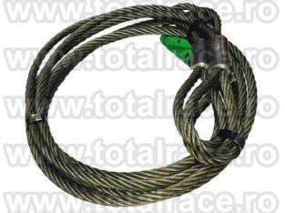 Cablu ridicare cu capete mansonate cu inima metalica Total Race