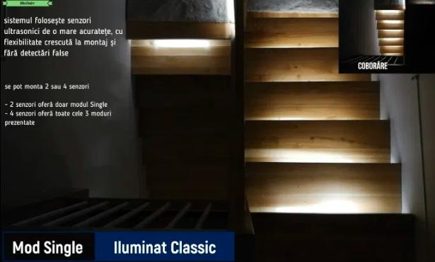 Trepte iluminate cu LED prin WiFi și Android